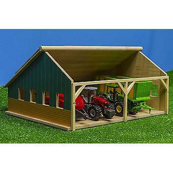 Kids Globe Scheune 1:50 (Bauernhofspielzeug aus Holz, fr Traktoren und Anhnger, Gre 25,3x33,4x16,7