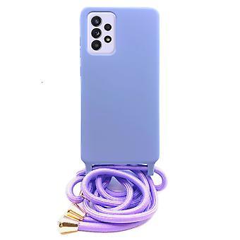FONU Silikon Tasche Fall mit Schnur Samsung Galaxy A52 - violett