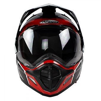 Helmet Nitro MX670 Podium Adventure DVS White/Black/Red Pin Lock Ready