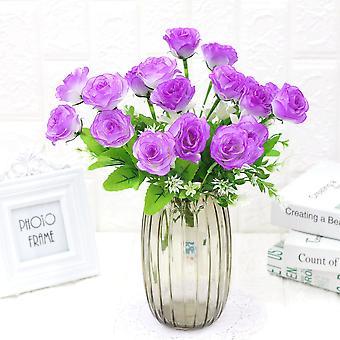 5pcs flor artificial flor rosa casa decoración flores secas regalo de flores falsas para las mujeres