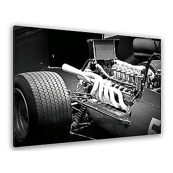 Czarno-biała tablica Tablica makro na silniku