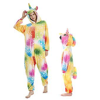 Regenboghorn Rainbow Pegasus Costume Unicorn Pajama Onesie Kigurumi Jumpsuit With Zip