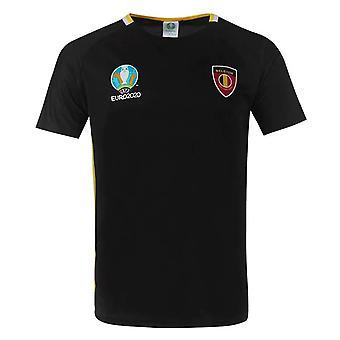 Belgium 2021 Polyester T-Shirt (Black)