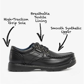 US Brass Stubby Boys Lace-up Casual Shoes Black