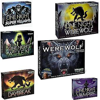 One Night Ultimate Werewolf Board Games fun family Daybreak vampire card Game for kids adult party