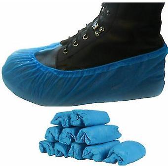 Capas de sapato descartáveis Tampa de sapato azul overshoes tampa de sapato (100pcs)