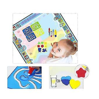 Magic Doodle Mat With Magic Pens, Water Colorful Mat For Children Kids Activity(BLUE)