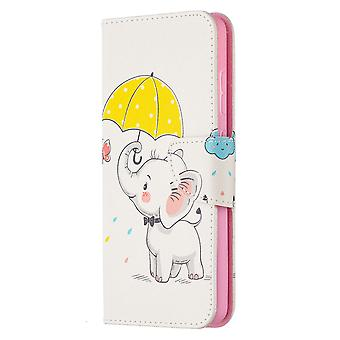 Samsung Galaxy A52 4g/5g Case Pattern Magnetic Protective Cover Cute Elephant