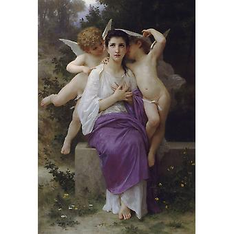 Leveil Heart,william-adolphe Bouguereau Art Reproduction.realism Style Modern Hd Art Print Poster,canvas Prints Wall Art For Home Decor Pictures (unfr
