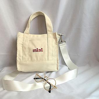 Mini bolsa de compras blanca