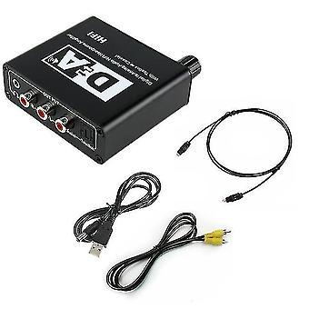 Dijitalden analoga fiber dönüştürücü, 3,5 mm jaklı ses kod çözücü
