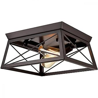 10v 2 Heads Square Lamp Shade Chandelier