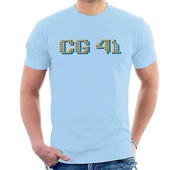 Curioso George C G stabilito 41 Pixelated Logo T-Shirt uomo