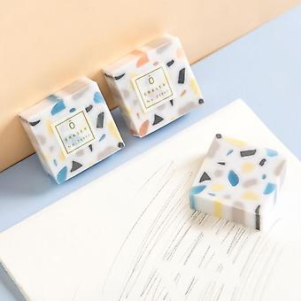 Cool Marble Erasers 6 Pieces / Lot Kids Study Tools Kawaii School Stationery Gift