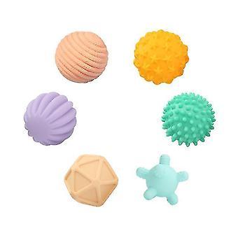 Lekplats bollar baby gummi hand texturerad touch boll för roliga badtid typ tj247 6st sm153335