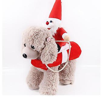 Big Dog Clothes Cat Pet Supplies Riding Clothes Transformed Into Halloween Santa Cowboy