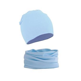 Vauvan hattu huivi asetettu kiinteä väri beanie korkki