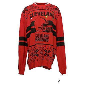 NFL Homme Cleveland Browns Sweater (XXL) LED Lighted Ugly Red A371650