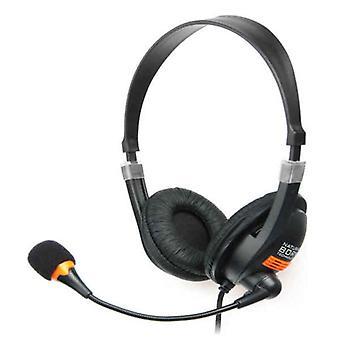 Headphones with Microphone Natec Drone Black Orange