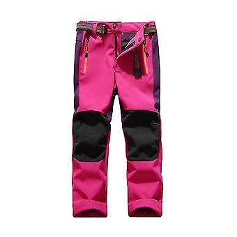 Children Winter Fleece Soft Shell Waterproof Thick Snow Pants