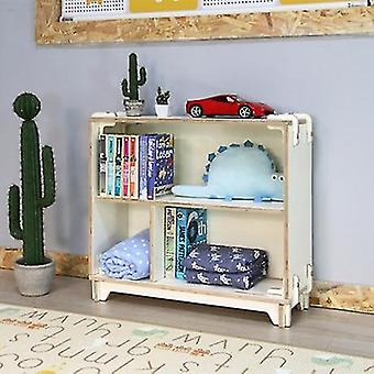 Solid Wood 2 Layered  Storage Cabinet For Kidins Books And
