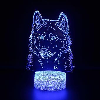 3d optisk illusjon lamper 7 farger touch endre bytte natt lys art deco lage en romantisk atmosfære i soverommet barnas stue-dyr # 479