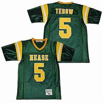 Мужская Tebow #5 средней школы Баскетбол Джерси сшитые спорт короткие рукава футболка Размер S-xxxl