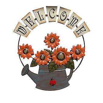Sunflower Welcome Sign, Front Door Decor Hanging Outdoor