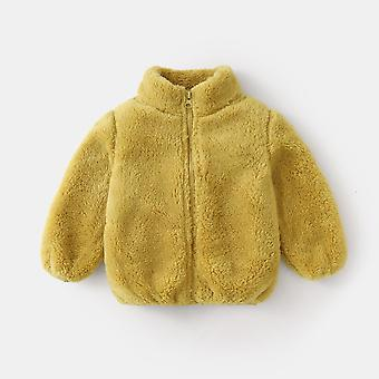 Autumn And Winter Plush Jacket Children Double-sided Fleece Clothes Boy And Girl Baby Warm Jacket