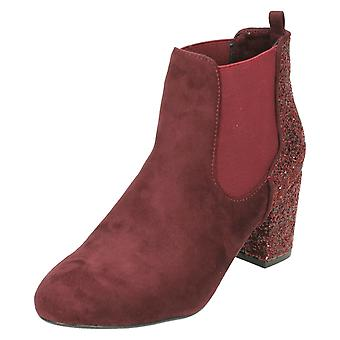 Ladies Anne Michelle Glitter Effect Ankle Boots F50682