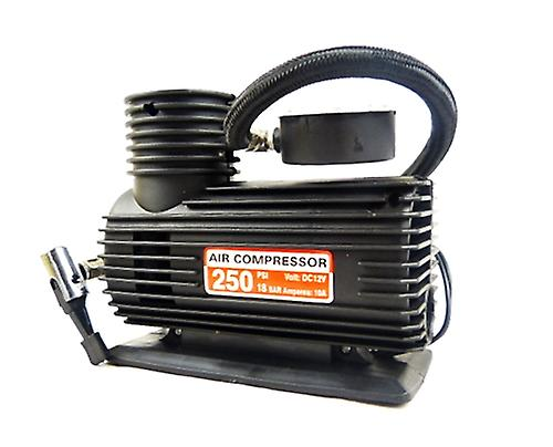 Hyfive 12v Tyre Compressor Portable Air Inflator Pump Powered By Cigarette Lighter Socket With Valve Adapters Included