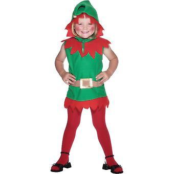 Barn kostym leprechaun grön tunika med bälte
