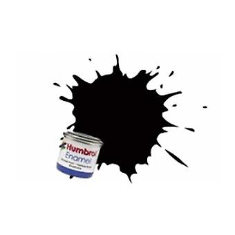 Humbrol Enamel verf 14ML Nr 201 Black - Metallic