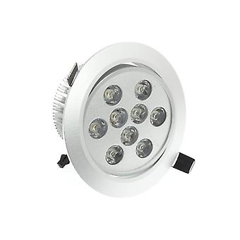 I LumoS High Quality Epistar 9 Watts Silver Circle Aluminium LED Spot Downlight