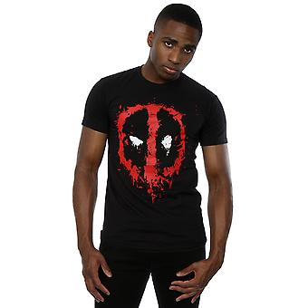 Marvel Men's Deadpool Splat Face T-Shirt