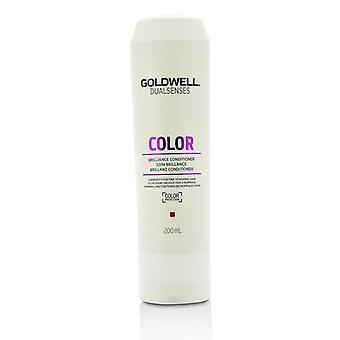 Goldwell Dual Senses färg Brilliance Conditioner (luminositet för fint till normalt hår)-200ml/6.7 oz