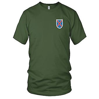 US Army - 10th Mountain Division Flash brodé Patch - Mens T Shirt