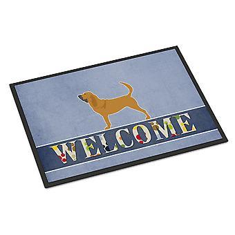 كارولين الكنوز BB5488MAT الكلب البوليسي نرحب حصيرة الأماكن المغلقة أو في الهواء الطلق 18 × 27