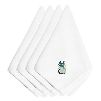 Halloween Witch with Coldrum Embroidered Napkins Set of 4