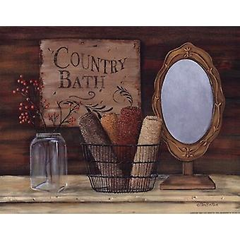 Country Bath Poster Print by Pam Britton (14 x 11)