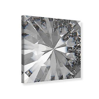 Canvas Print gigantische diamant