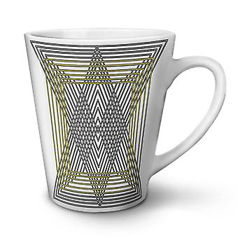 Triangle Shape NEW White Tea Coffee Ceramic Latte Mug 12 oz | Wellcoda