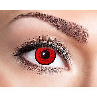 Fiebre de fuego rojo fiebre lentes de contacto