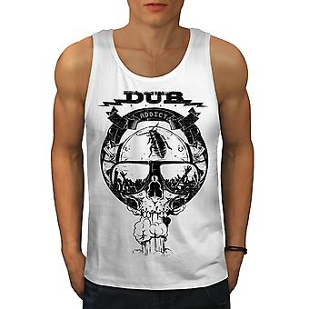 Dub Addicted Dead Men WhiteTank Top | Wellcoda