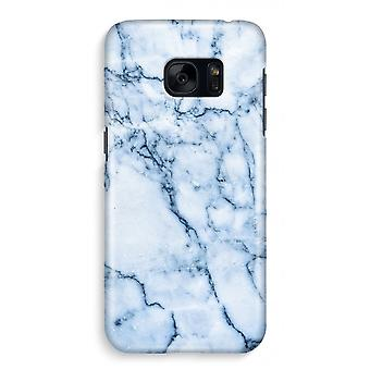 Samsung S7 Full Print Case - Blue marble