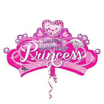 Anagram Childrens Girls Princess Crown And Gem Supershape Balloon