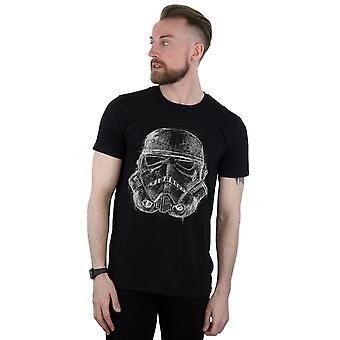 Star Wars miesten Stormtrooper Scribble kypärä T-paita