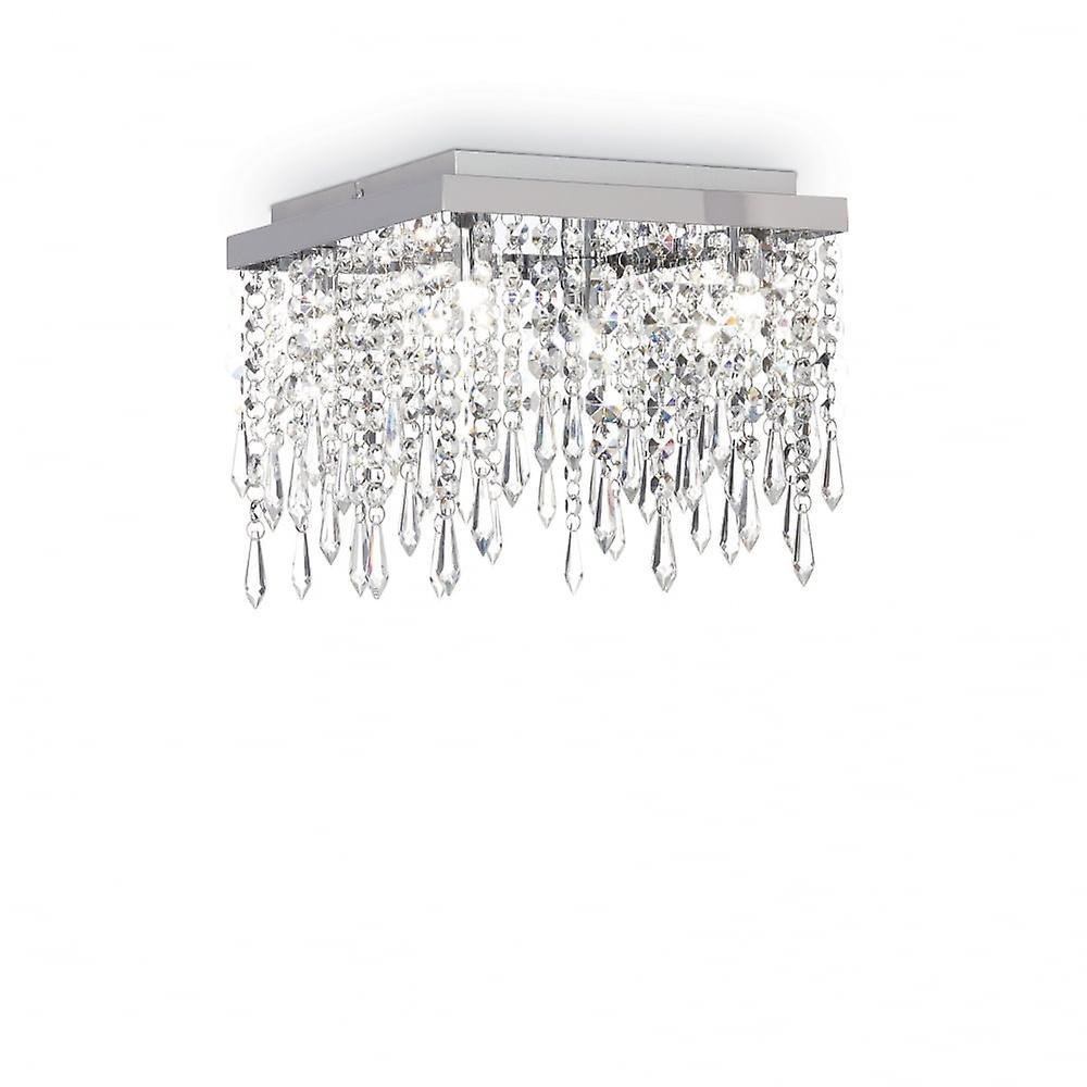 Ideell Lux Giada klart Crystal foss taket lys
