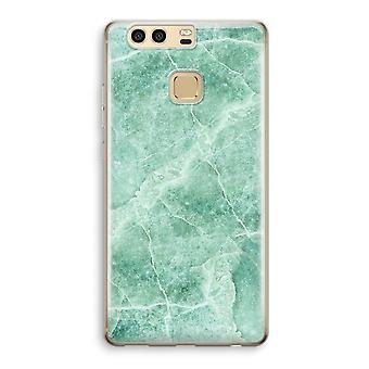 Huawei P9 gjennomsiktig sak (myk) - grønn marmor