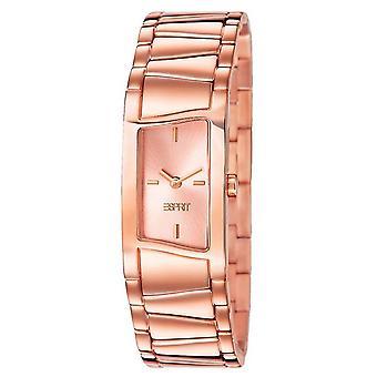 Esprit Damen Uhr Armbanduhr fancy deco Edelstahl Rosé ES106072003